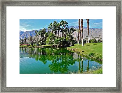 Mesquite Country Club Lake Framed Print