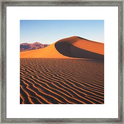 Mesquite Dunes 1-sq Framed Print