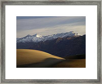 Mesquite Dunes And Grapevine Range Framed Print