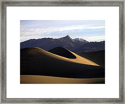 Framed Print featuring the photograph Mesquite Dunes At Dawn by Joe Schofield