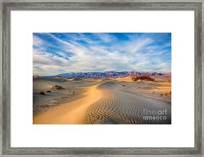 Mesquite Dunes Framed Print