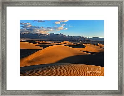 Mesquite Sand Dunes Death Valley Framed Print