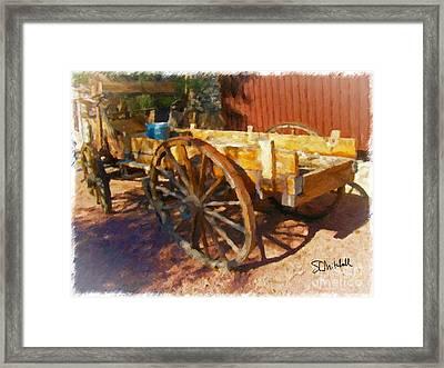 Mesquite Wagon Framed Print