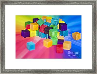 Mess Of Colour Framed Print