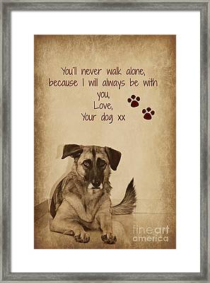 Message From Your Dog Framed Print