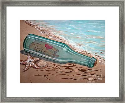 Message In A Bottle Framed Print by Brenda Brown