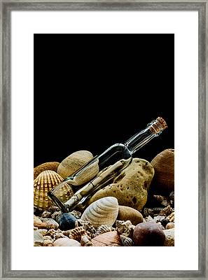 Message In A Bottle I Framed Print by Marco Oliveira