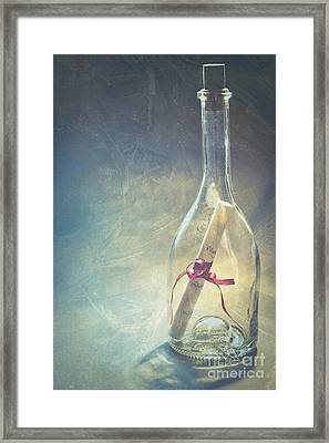 Message In A Bottle Framed Print