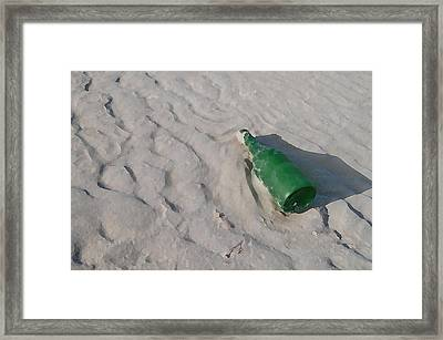 Message In A Bottle Framed Print by Peter Waters