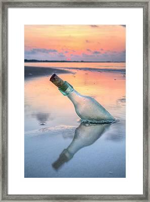 Message In A Bottle V Framed Print by JC Findley