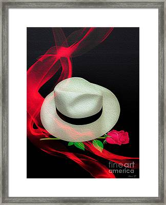 Message In A Hat Framed Print
