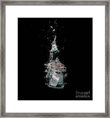 Message In Sinking Bottle Framed Print by Simon Bratt Photography LRPS