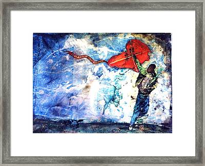 Message In The Wind Framed Print