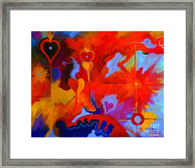 Framed Print featuring the painting Message Of Love by Alison Caltrider