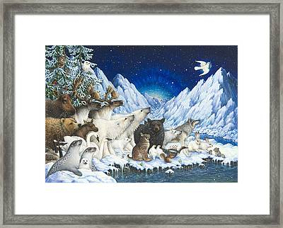 Message Of Peace Framed Print by Lynn Bywaters