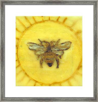 Message Of The Bees 3 Framed Print by Janelle Schneider