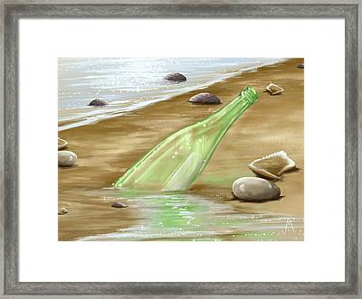 Message Framed Print by Veronica Minozzi