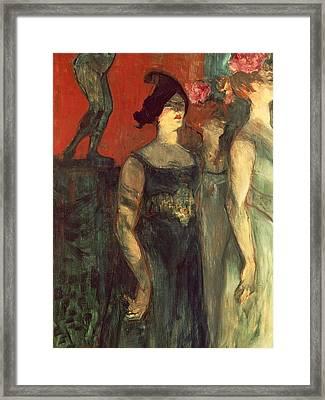 Messalina Framed Print by  Henri de Toulouse Lautrec
