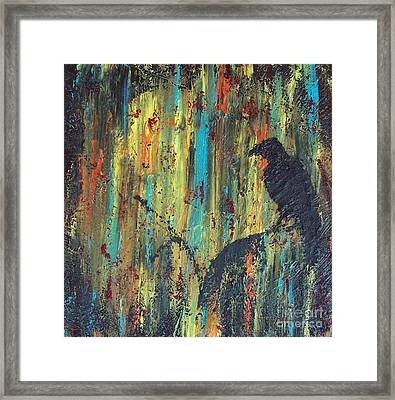 Framed Print featuring the painting Messenger by Jacqueline McReynolds