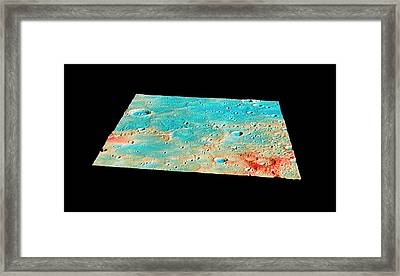 Messenger Landing Site Framed Print by Nasa/johns Hopkins University Applied Physics Laboratory/carnegie Institution Of Washington
