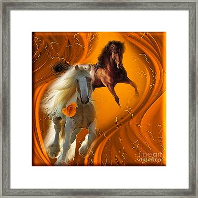 Framed Print featuring the digital art Messenger Of Love - Fantasy Art By Giada Rossi by Giada Rossi