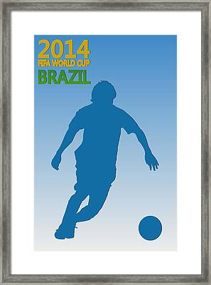 Messi Argentina World Cup Framed Print by Joe Hamilton