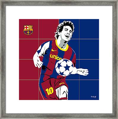 messi Football Framed Print by Roby Marelly