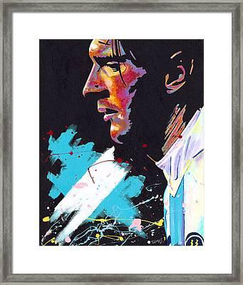 Messi Framed Print by Jeff Gomez