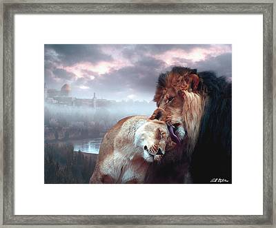 Yeshua Loves Israel Framed Print
