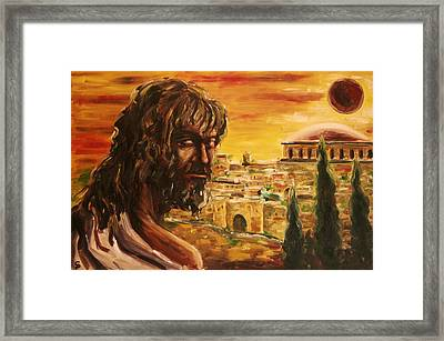 Messiah In Jerusalem Framed Print by George Dadiani