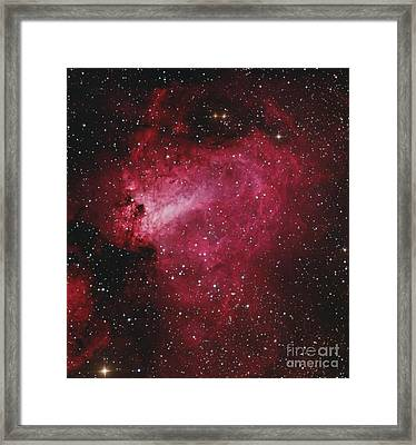Messier 17, The Swan Nebula Framed Print