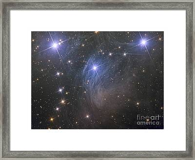 Messier 45, The Pleiades, An Open Star Framed Print by Reinhold Wittich