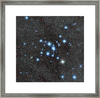 Messier 7 Star Cluster Framed Print by European Southern Observatory