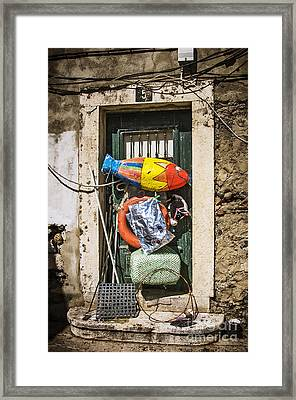 Messy Door Framed Print by Carlos Caetano