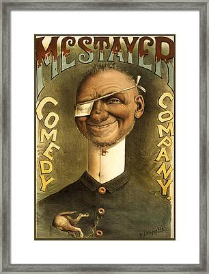 Mestayer Comedy Company Framed Print by Aged Pixel