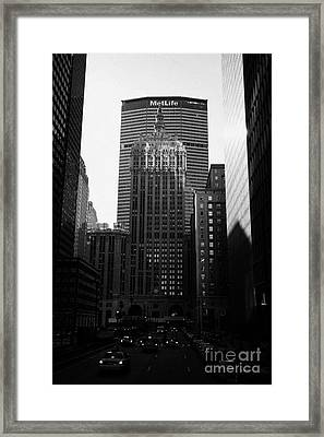 Met Life Building And 230 Park Avenue New York City Framed Print
