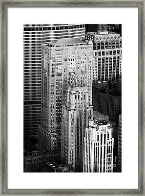 Met Life Building Lincoln Building Lefcourt Colonial Building And Johns Manville Building New York Framed Print