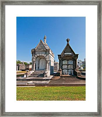 Metairie Cemetery 4 Framed Print by Steve Harrington