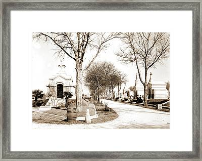 Metairie Cemetery, New Orleans, Cemeteries Framed Print by Litz Collection