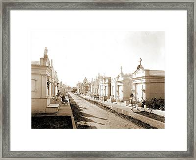 Metairie Cemetery, New Orleans, Louisiana, Tombs & Framed Print by Litz Collection