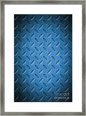 Metal Background Framed Print by Carlos Caetano