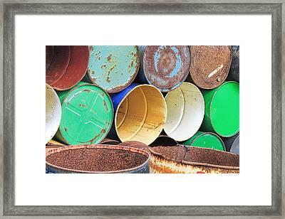 Metal Barrels 2 Framed Print