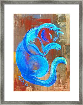 Metal Blue Framed Print