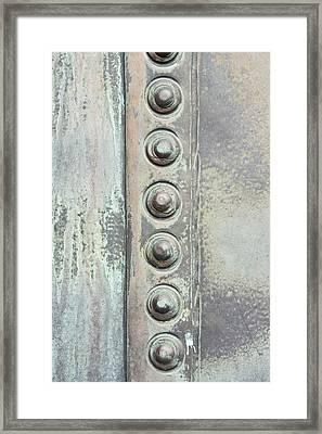 Metal Detail Framed Print by Tom Gowanlock