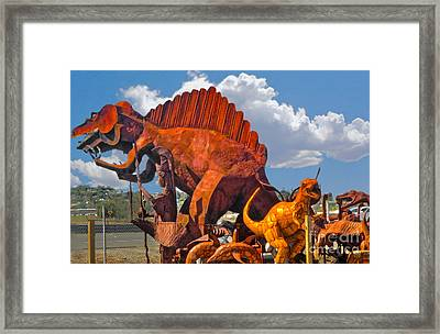 Metal Dinosaurs - 01 Framed Print by Gregory Dyer