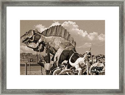Metal Dinosaurs - 02 Framed Print by Gregory Dyer