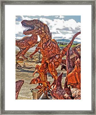 Metal Dinosaurs - 03 Framed Print by Gregory Dyer