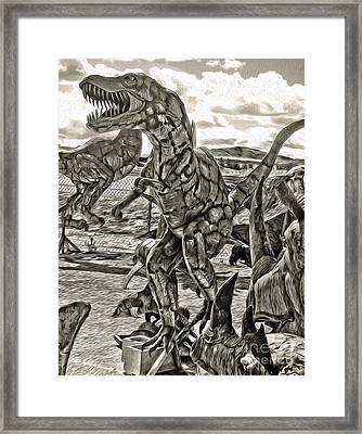 Metal Dinosaurs - 04 Framed Print by Gregory Dyer