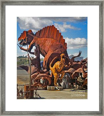 Metal Dinosaurs - 05 Framed Print by Gregory Dyer