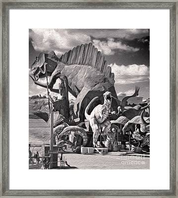 Metal Dinosaurs - 06 Framed Print by Gregory Dyer